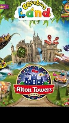 Alton Towers Resort Tickets x2  - Valid Friday 19th July 2019 E Tickets