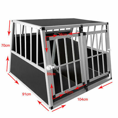 large  Aluminium Dog Pet Cage Transport Crate Car Travel Carrier Box Dog Kennel