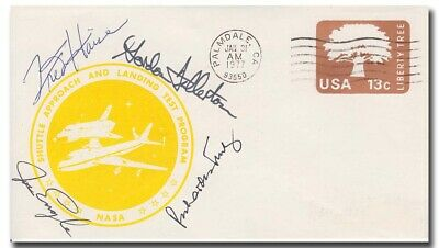 Shuttle ALT cover 1977 handsiged by Fred Haise + astronauts - 4h72