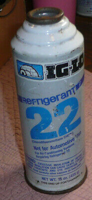 15oz Can of Ig-Lo R-22 R22 Home AC Air Conditioning Refrigerant - FULL