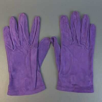Vintage Neiman Marcus Purple Leather Silk Lined Gloves Sz 7.5 Made in Italy
