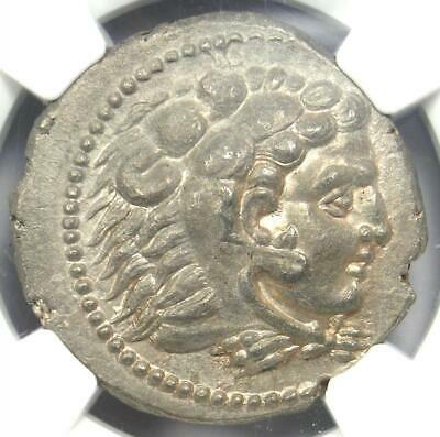 Alexander the Great III AR Tetradrachm Coin 336-323 BC - Certified NGC Choice AU