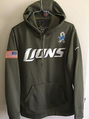 reputable site cc2c0 0bce3 NIKE DETROIT LIONS NFL Equipment Therma-Fit Training Hoodie ...