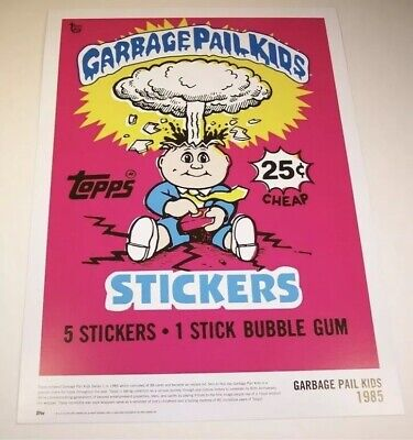 2018 GARBAGE PAIL KIDS ADAM BOMB 80th Anniversary 1985 Wrapper Art Poster Topps