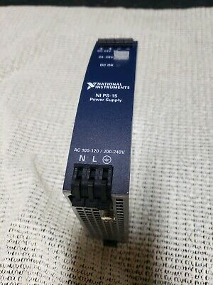 NI PS-15 Power Supply, 24VDC National Instrumenst din rail mount used great shap