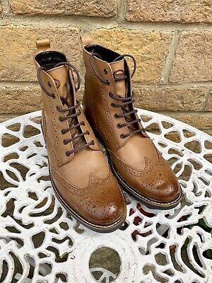 MENS BASE LONDON STROKE CASUAL LACE UP CHUGGA EVERYDAY BIKER ANKLE BOOTS