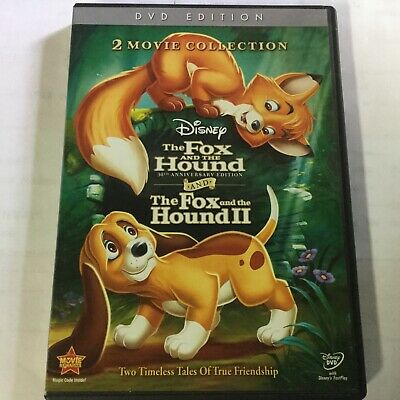 Disney 2 Movie Collection THE FOX AND THE HOUND I & II - 1 & 2 animated DVD