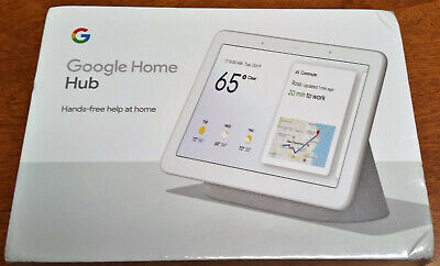 Google Home Hub with Google Assistant (Chalk) (GA00516-US) NEW SEALED