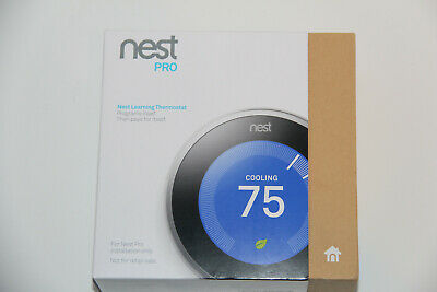 Nest 3rd Generation Learning Stainless Steel Programmable Wifi Thermostat Pro