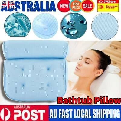 3D Mesh Bath Tub Spa Pillow Cushion Neck Back Support Bathtub NonSlip Breathable