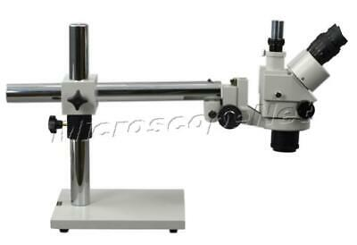 Large Field of View Trinocular Stereo ZOOM Microscope 3.5-90X Boom Stand Long WD