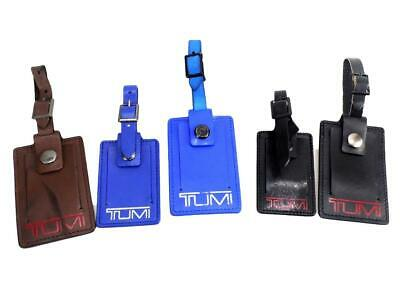 TUMI Leather Luggage Tag (You Choose Size and Color)