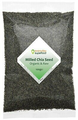 Milled Chia Seeds Organic ground chia seed powder premium chia seeds, keto diet