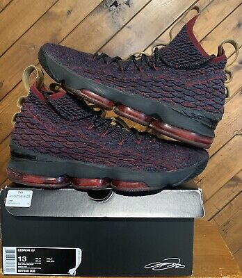 watch 68d3b 73b8d NIKE LEBRON 15 XV New Heights Dark Atomic Teal Red 897648-300 Men's Size 13