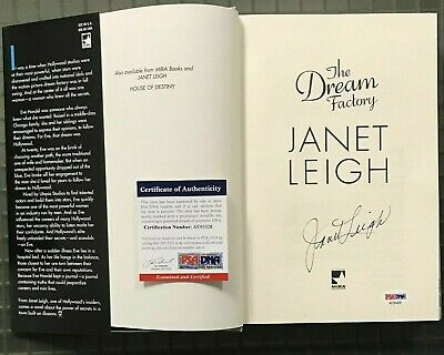 "JANET LEIGH Psycho Actress Signed Autograph ""The Dream Factory"" Book PSA/DNA COA"