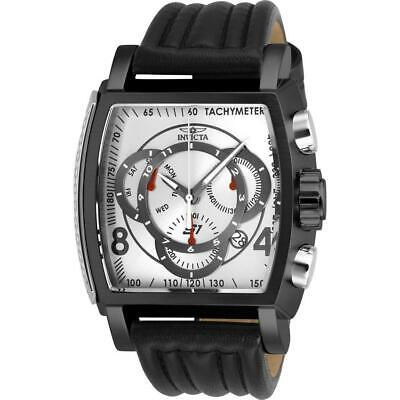 Invicta S1 Rally 27942 Men's Black/ Silver Genuine Leather Chronograph Watch