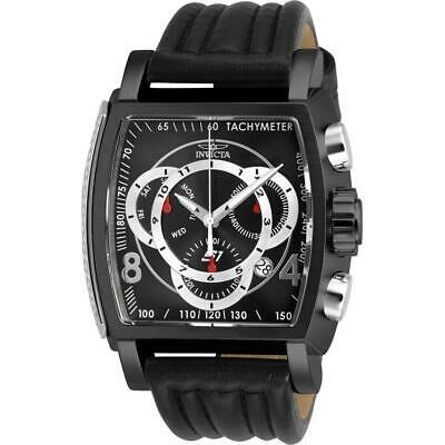 Invicta S1 Rally 27941 Men's Black Genuine Leather Chronograph Watch