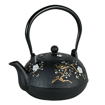 Avanti 1.1L Cast Iron Teapot w/ Removable S/S Infuser/Lid Tea Pot Cherry Blossom