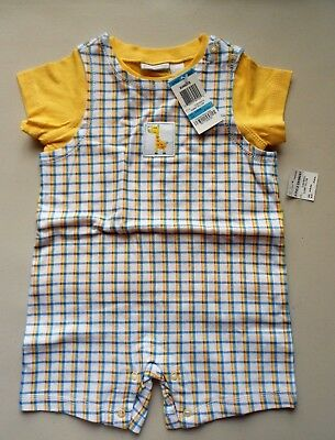 NWT First Impressions 2pc Set T-shirt and Shortalls Size 24M 100% Cotton