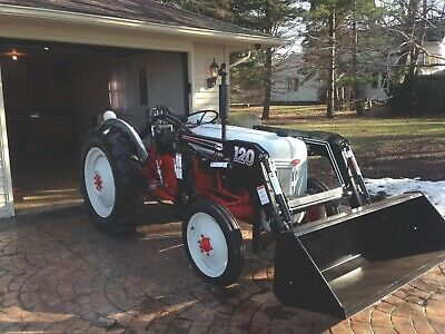 1948 Ford Tractor 8N With Front End Loader And Landscape Rake