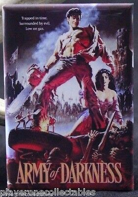 """Army of Darkness Movie Poster 2"""" X 3"""" Fridge Magnet. Bruce Campbell Evil Dead"""