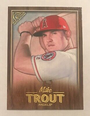 2018 Topps Gallery MIKE TROUT Wood Parallel #100 Angels
