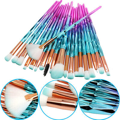 20PCS Unicorn Makeup Brushes Set Soft Foundation Eyeshadow Face Eye Brush Tools