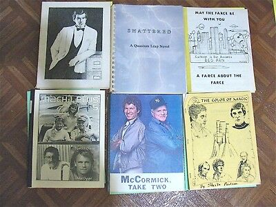 Vintage Fanzine Collection Tv Shows Mixed Themes Lot Of 6 Different  Lot 176