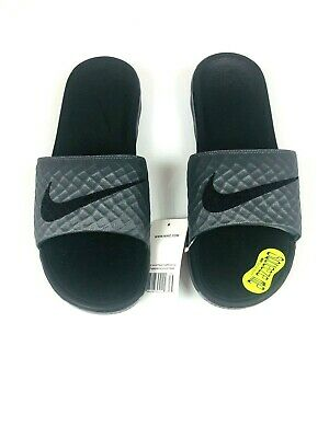 Nike Benassi Solarsoft Men's Slides Sandals Black 705474 090