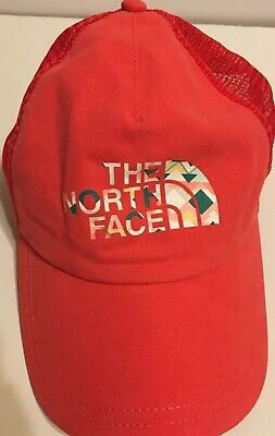 The North Face Womens Lo Pro Trucker Hat Snapback Cayenne Red OSFM   TNF