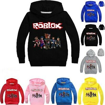 Boys Girls Roblox Hooded Hoodie Pullover Sweatshirt Long Sleeve Jumper Coat Tops