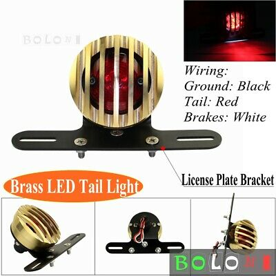 MagiDeal Motorcycle LED Rear Brake Tail Light Indicator License Plate Lamp