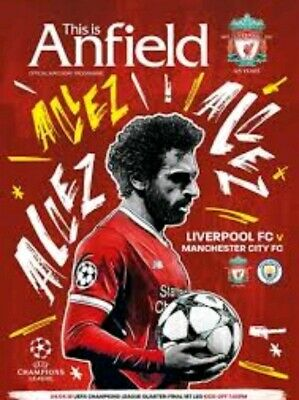 Liverpool V Manchester City Champions League Programme 2017/18 brand new mint