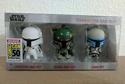 Comic Con SDCC 2019 Star Wars Boba Fett Character Bag Clips Monogram Exclusive