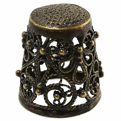 Collectible Thimble Bronze Woven Wire Pattern