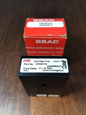 HRDB123 SSAC ABB Time Delay Relay New