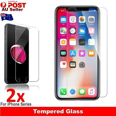 2x Scratch Resist Tempered Glass Screen Protector For Apple iPhone 8 7 6s Plus X