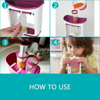 Toddler Infant Fruit Maker Dispenser Baby Feeding Food Squeeze Station