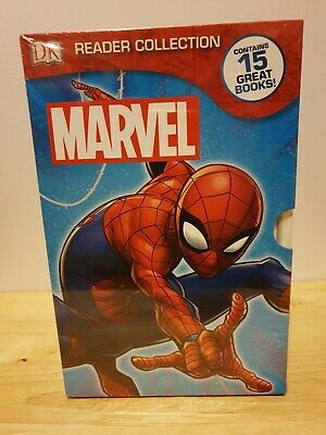 Dk Marvel Readers Collection 15 Books Box Set Spiderman Ironman New