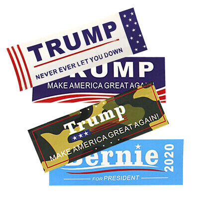 50Pcs Keep Make America Great 2020 Donald Trump Bumper Adhesive Sticker Decals