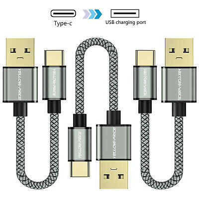 3X FAST Braided USB Type C Data Sync Charger Cable for Galaxy S8 S9 S10 + HUAWEI