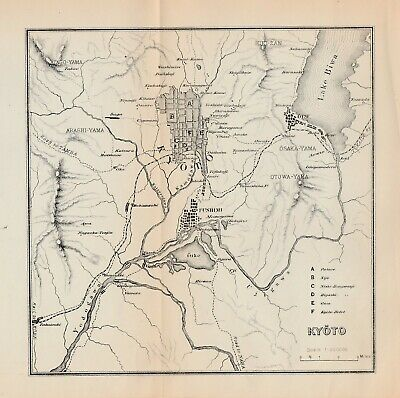 1891 map - City of Kyoto Japan