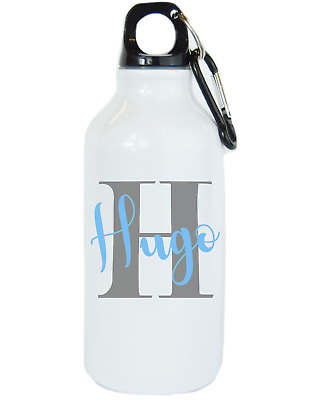 Personalised Name and Initial Kids Water Bottle School Bottle Flask Boys Girls