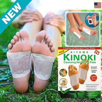 Lot Premium Kinoki Detox Foot Pads Organic Herbal Cleansing Slimming Patches US