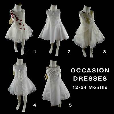 Baby Girls Christening Baptism Wedding Party Occasion Dress Gown 12-24M