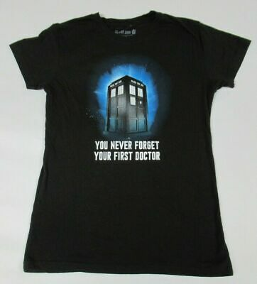 Dr. Who Never Forget Su First Doctor Tardis Negro Grande Mujer Camiseta A1469