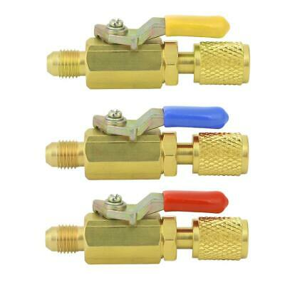 "R410a 1/4"" Male to 1/4"" SAE Female Straight Brass Manual Shut-off Valve"