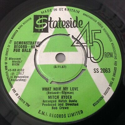 Mitch Ryder - Blessing In Disguise / What Now My Love - Stateside Promo Ss 2063