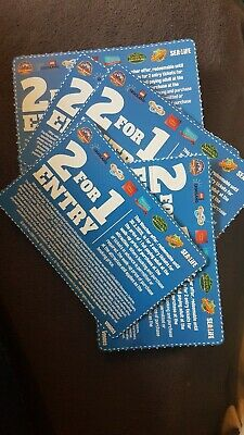 5 vouchers of 2 For 1 Entry At UK Merlin attractions