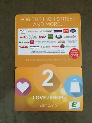 Love2Shop Gift Card Voucher £50.00